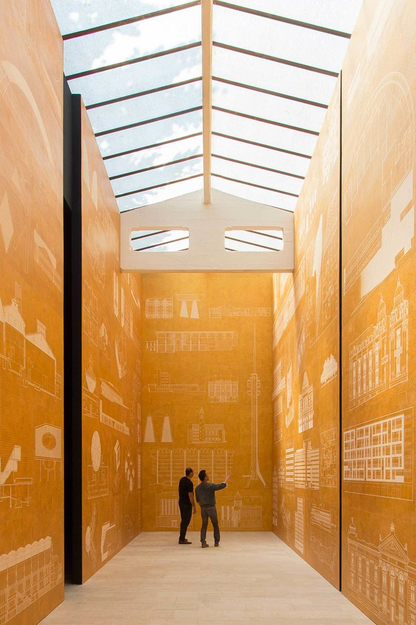 Golden room, Serbian Pavillion, Giardini, 2014.